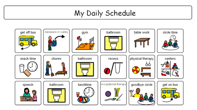 Using Visual Schedules for Self-Regulation